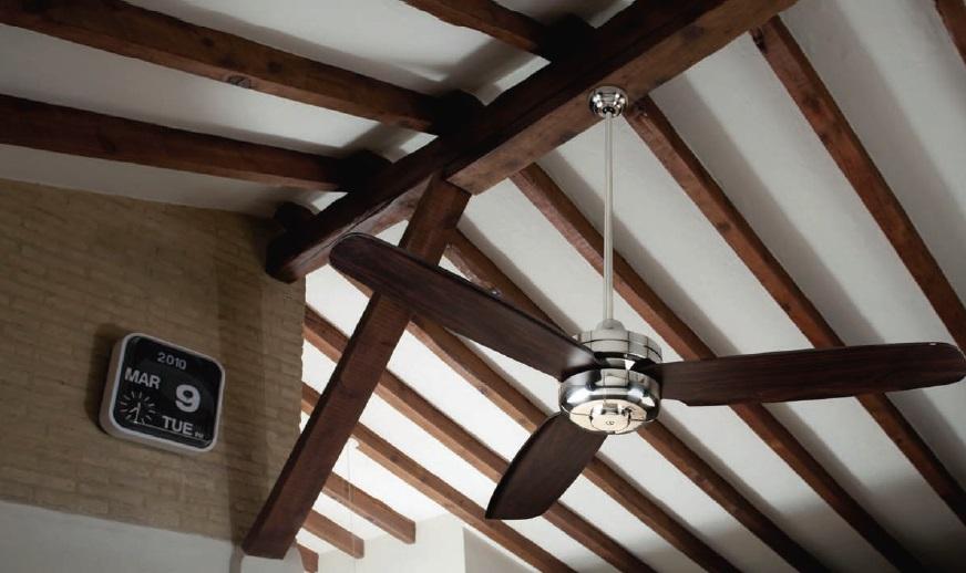 Ventilador techo cromo satinado palas wengue 50989 cr - Ventilador techo silencioso ...