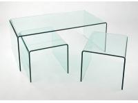 Mesas auxiliares nido cristal templado