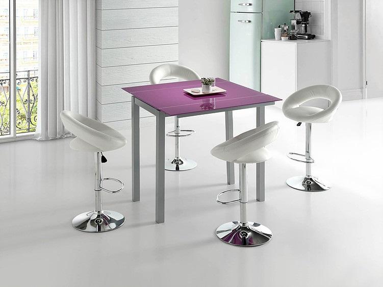 Conjunto de cocina mesa alta extensible Leiria cristal ...
