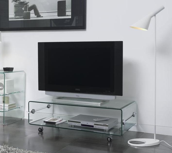 Mesa tv cristal con ruedas 100x50 ct 220 - Mesa de television ikea ...