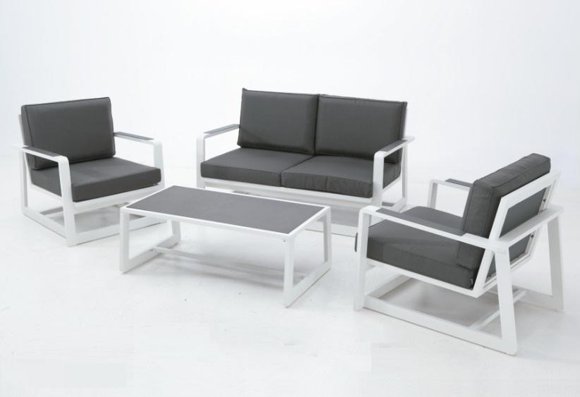 Sofa terraza sofa de terraza cuerda gris duna plazas for Sofa exterior aluminio blanco