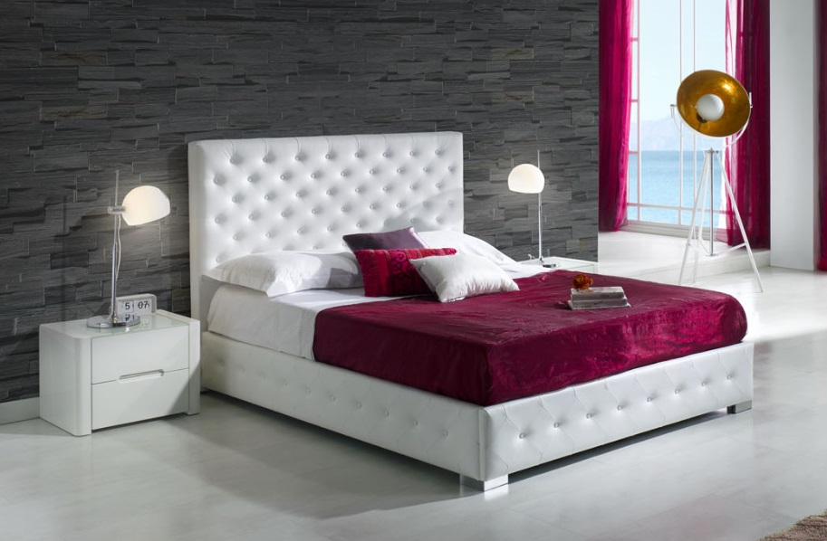cama tapizada capitone alma On cama capitone blanca