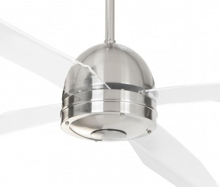 Ventilador de techo cromado palas transparentes 50992 cr - Precios ventiladores de techo ...