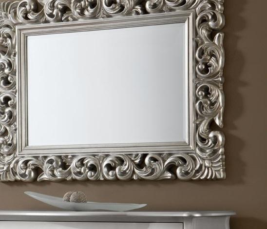 Espejo barroco plata 120x90 pu 049 for Espejo vintage plateado