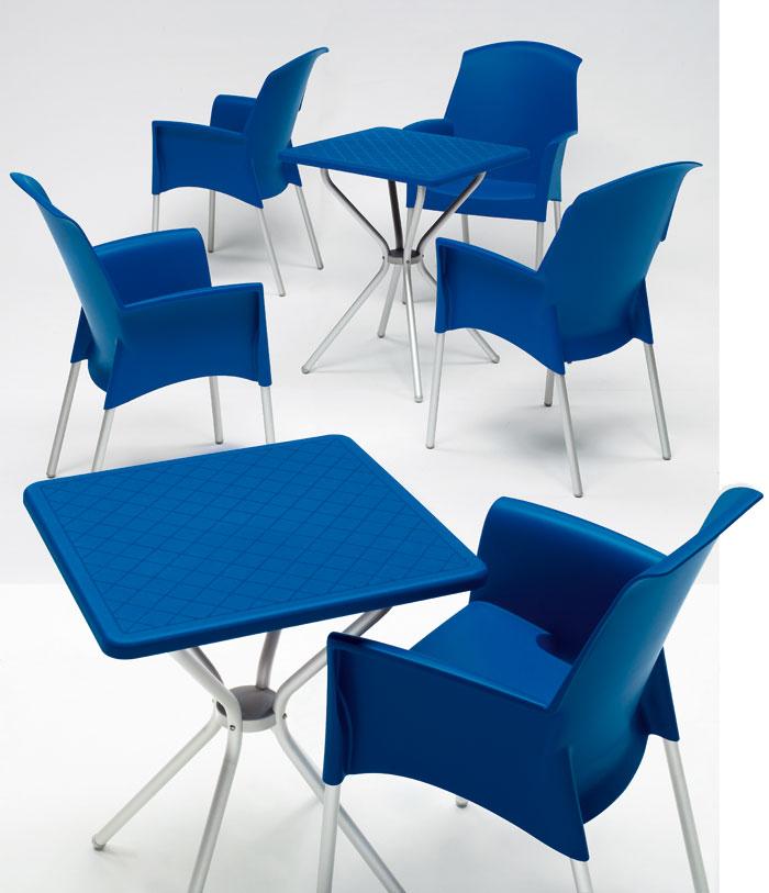mesa de terraza y hosteleria jimmy azul 70x70 cm. Black Bedroom Furniture Sets. Home Design Ideas