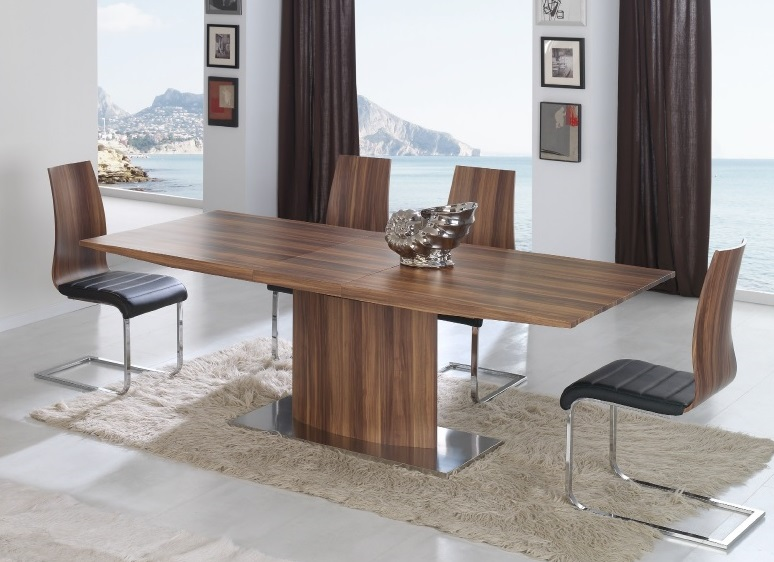 Conjunto de comedor dt 02 nogal - Outlet merkamueble ...