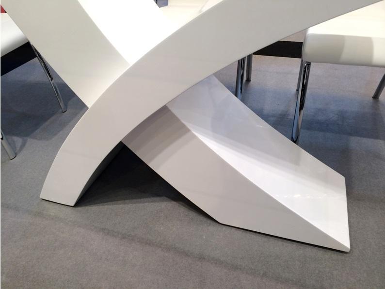 Mesa de comedor x blanco brillo 180x100 for Mesa comedor blanco brillo