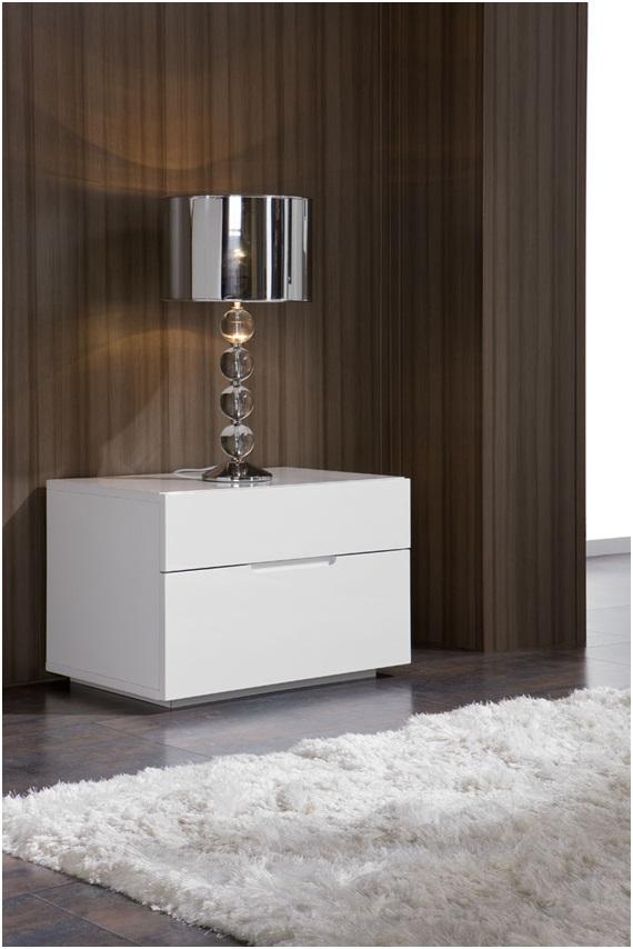 Mesita de noche minimalista blanco M-100 - www.regaldekor.com