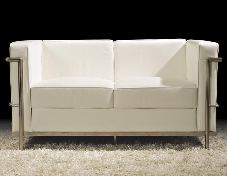 Sofa le corbusier blanco - Sofa piel blanco ...