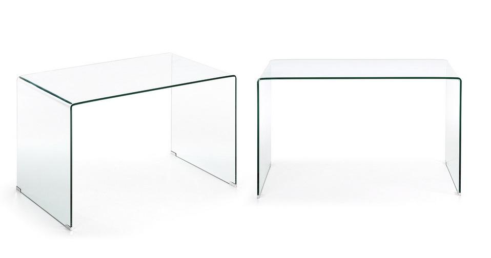 Mesa escritorio cristal templado 125x70 - Mesa escritorio cristal ...