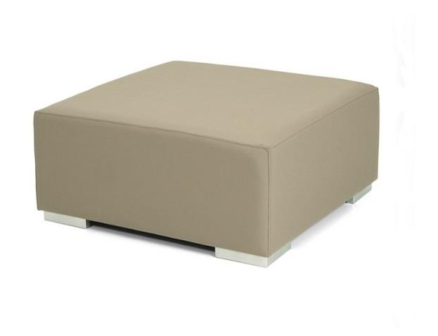 Mesa puff cuadrado piel nautica 75x75 for Puff cuadrados