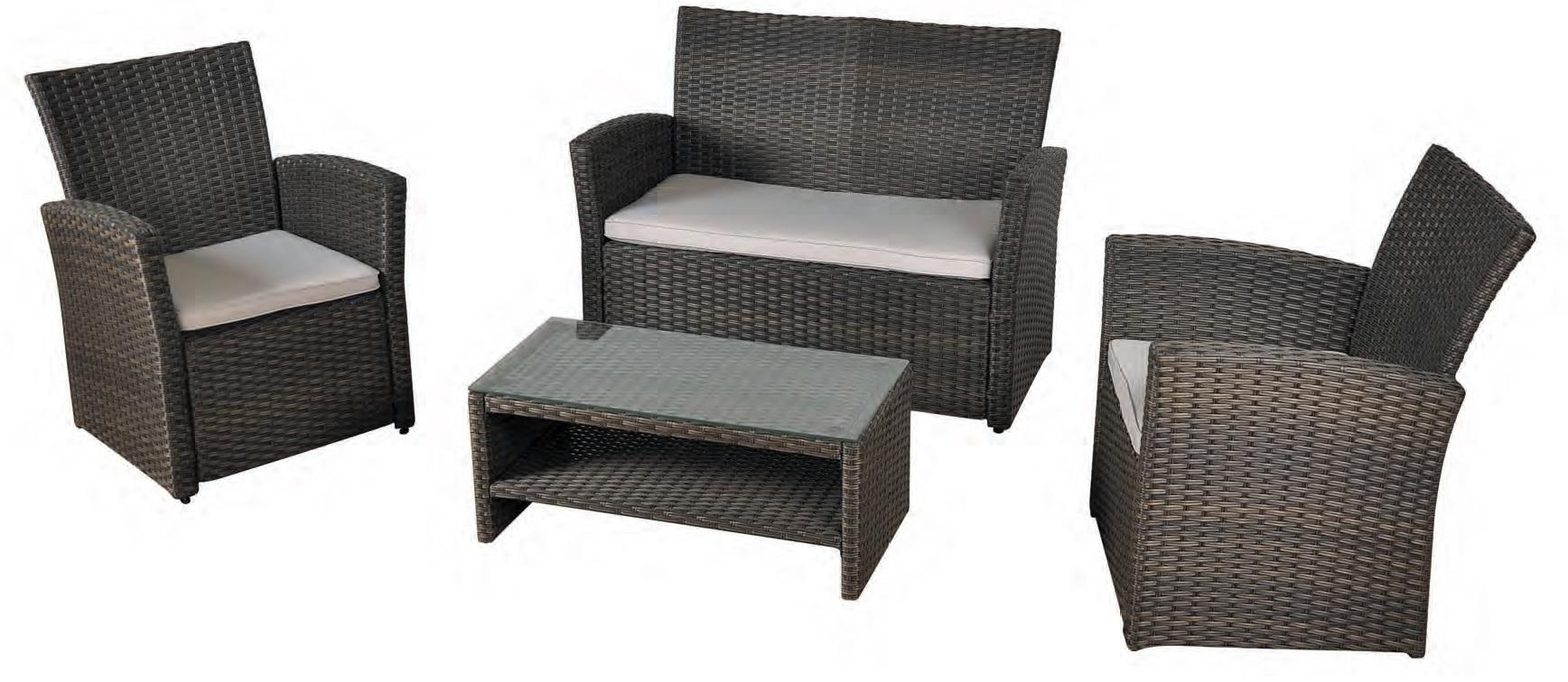 Set sofa terraza economico rattan oliver for Muebles de exterior de rattan