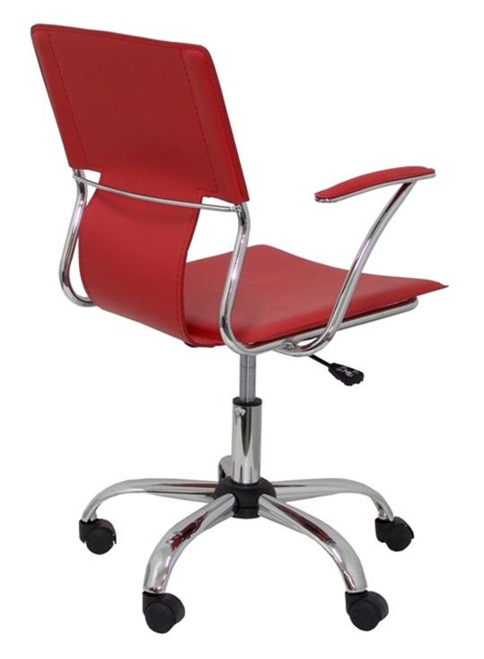 Silla oficina giratoria tapizado rojo for Sillas giratorias de oficina precios