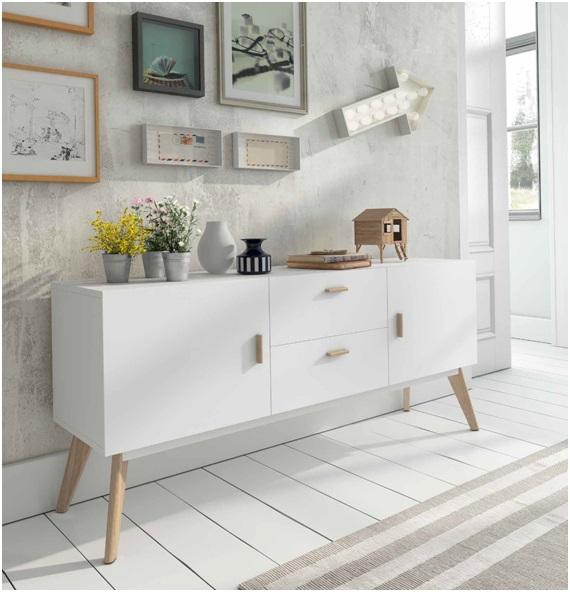 Aparador estilo nordico vintage w 900 dugar home www for Estilo hogar muebles