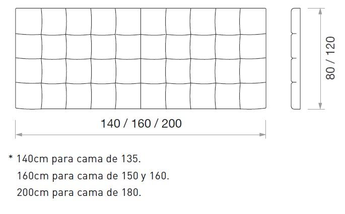 Cabecero patchwork cuadros for Cuales son las medidas de las camas