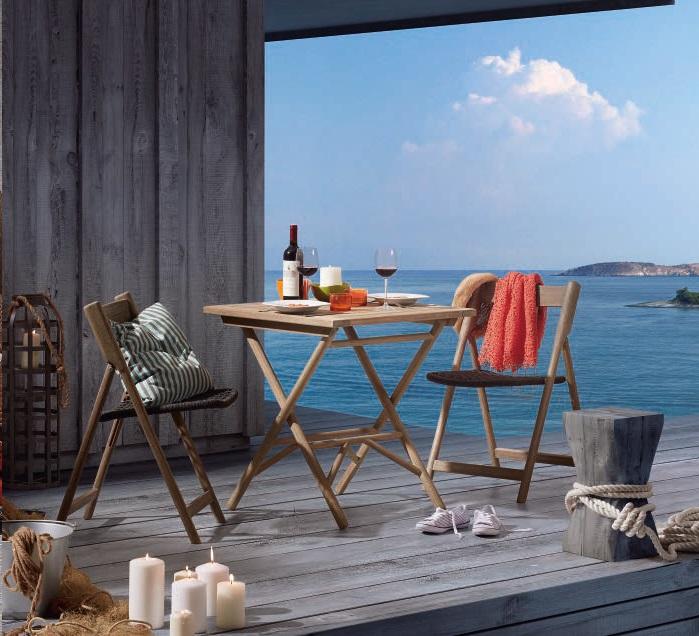 Conjunto de terraza en madera patina gris envejecido www for Conjuntos de terraza