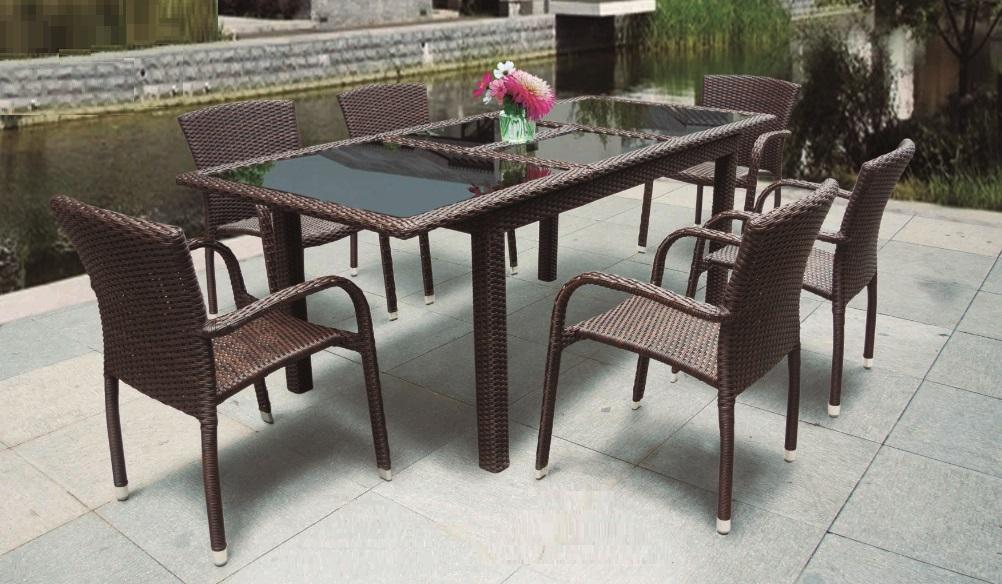 mesa de terraza extensible rattan belice
