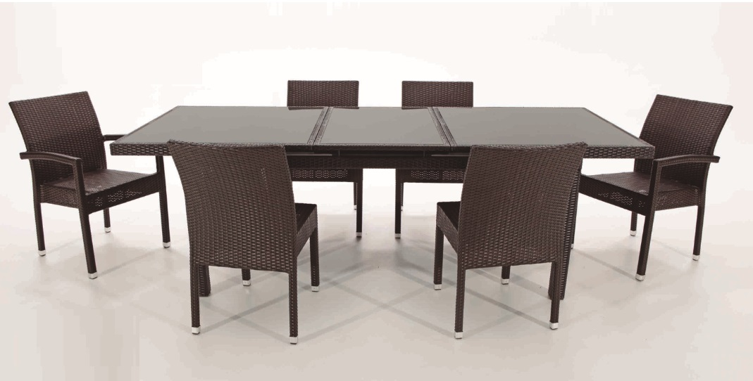 Sillon rattan chocolate kity for Terrazas de rattan