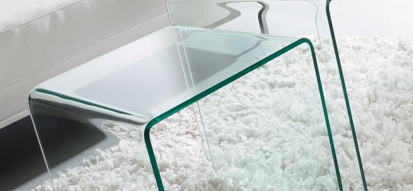 Mesa de centro cristal templado transparente 60x60 cm - Mesitas auxiliares de cristal ...