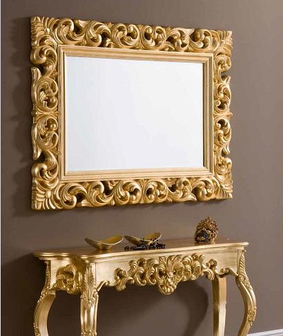 Espejo barroco oro 120x90 pu 049 - Espejos de resina ...