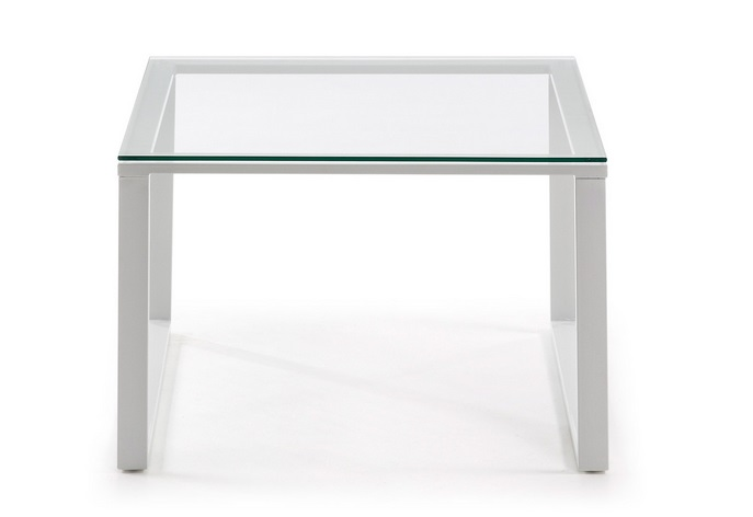 Mesa centro blanco cristal 60x60 - Mesa cristal blanco ...