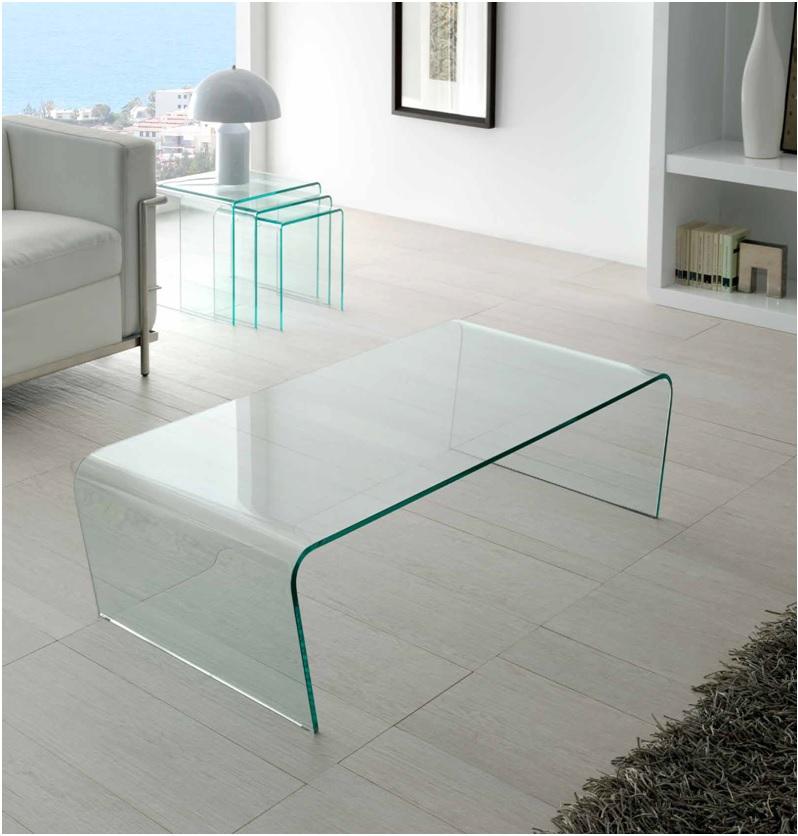 mesa de centro cristal curvado una pieza ct 205 dugar home
