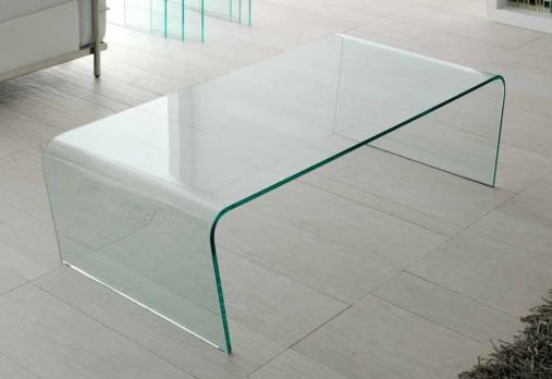 Mesa de centro cristal curvado una pieza ct 205 dugar home for Mesa cristal escritorio ikea