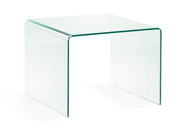 Mesa de centro cristal templado transparente 60x60 cm for Mesa cristal 60 x 60