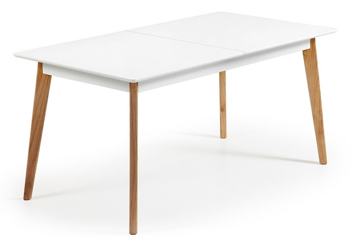 Mesa de comedor nordica extensible norway 200 www for Mesa comedor nordica