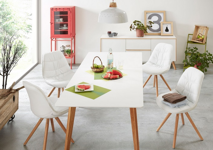Mesa de comedor nordica extensible norway 200 www for Sillas comedor nordicas