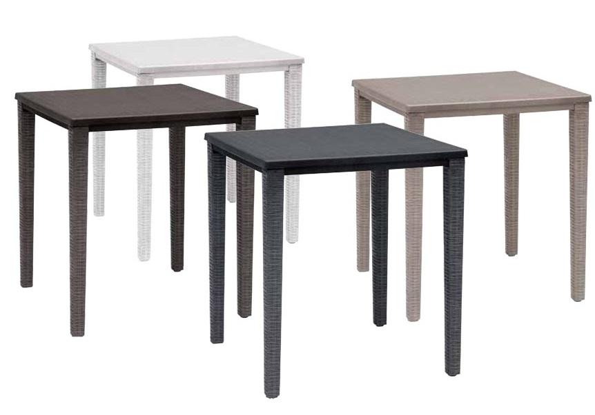mesa terraza imitacion rattan orazio lino 70x70. Black Bedroom Furniture Sets. Home Design Ideas