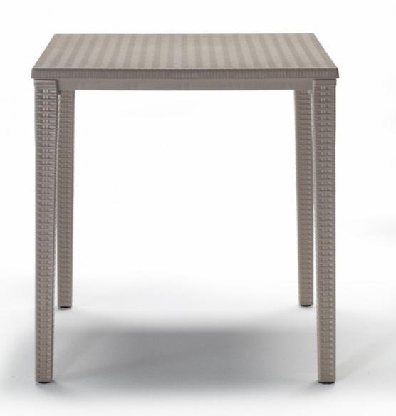 mesa de terraza imitacion rattan orazio tortora 70 x 70 cm. Black Bedroom Furniture Sets. Home Design Ideas