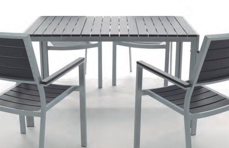 Mesa aluminio lamas imitacion madera kind - Mesa terraza madera ...