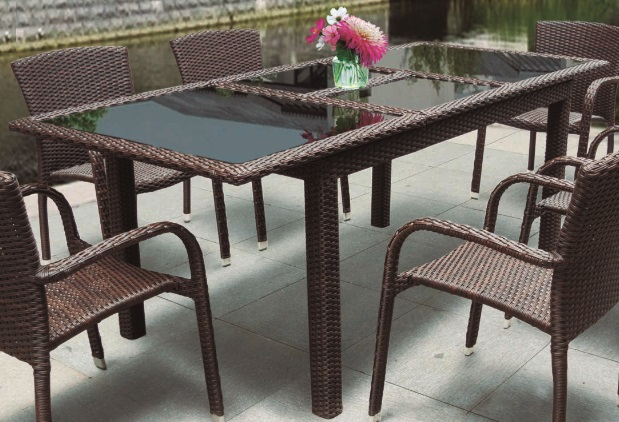 Mesa de terraza extensible rattan belice - Mesas de rattan ...