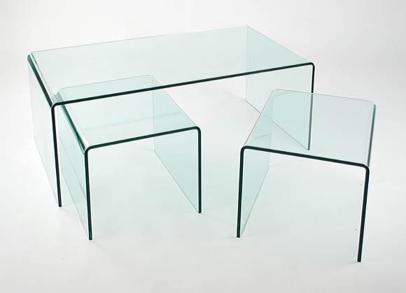 Mesas axuliares nido cristal templado - Mesas auxiliares cristal ...