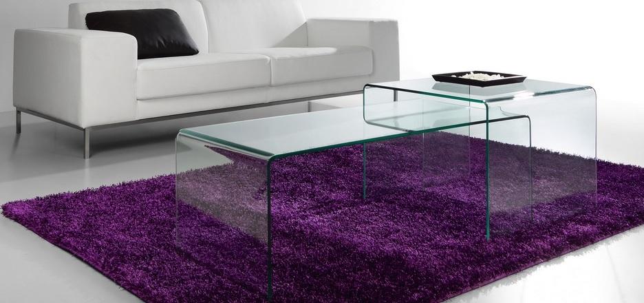 Mesa de centro cristal templado transparente 60x60 cm - Mesas cristal templado ...