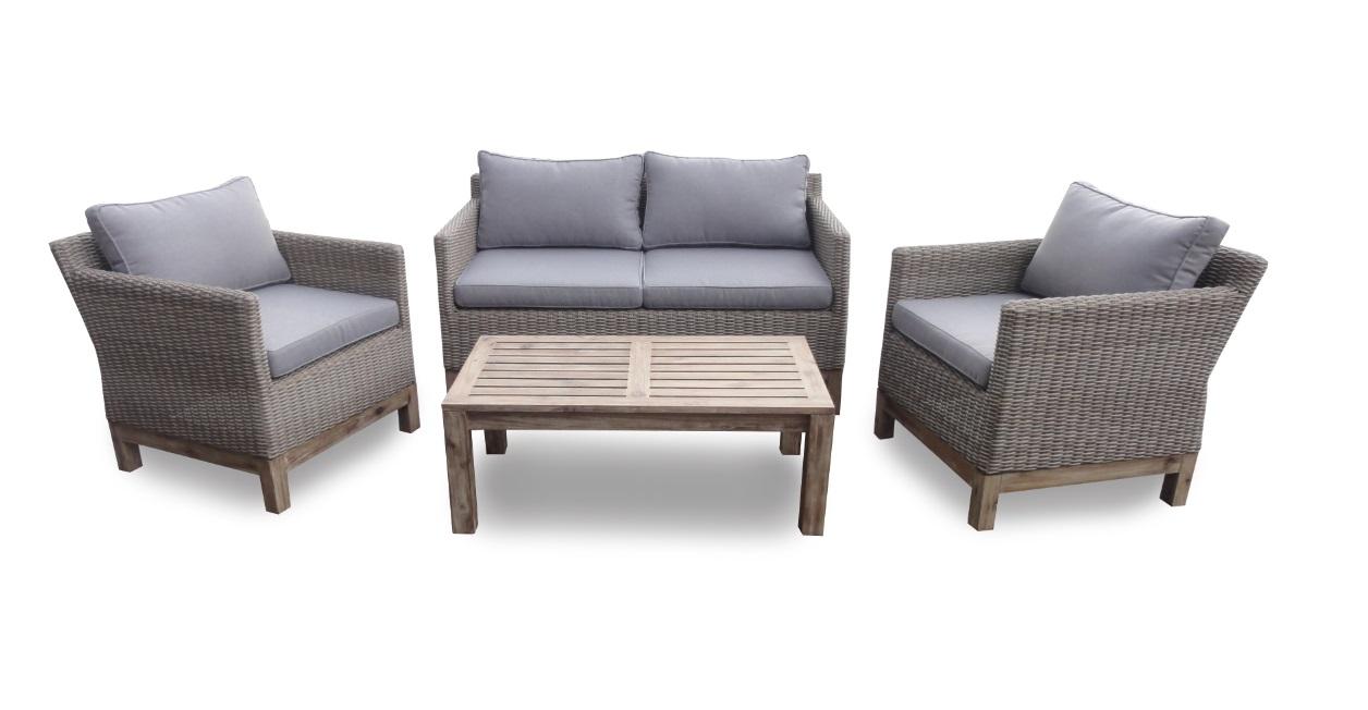 set sofas terraza valeria ratan madera natural www