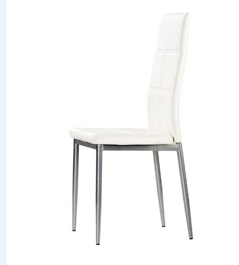 4 uds silla de cocina polipiel blanco bruz www for Sillas cocina polipiel