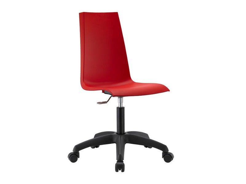 Silla oficina polipropileno rojo Mannequin con ruedas Scab - www ...