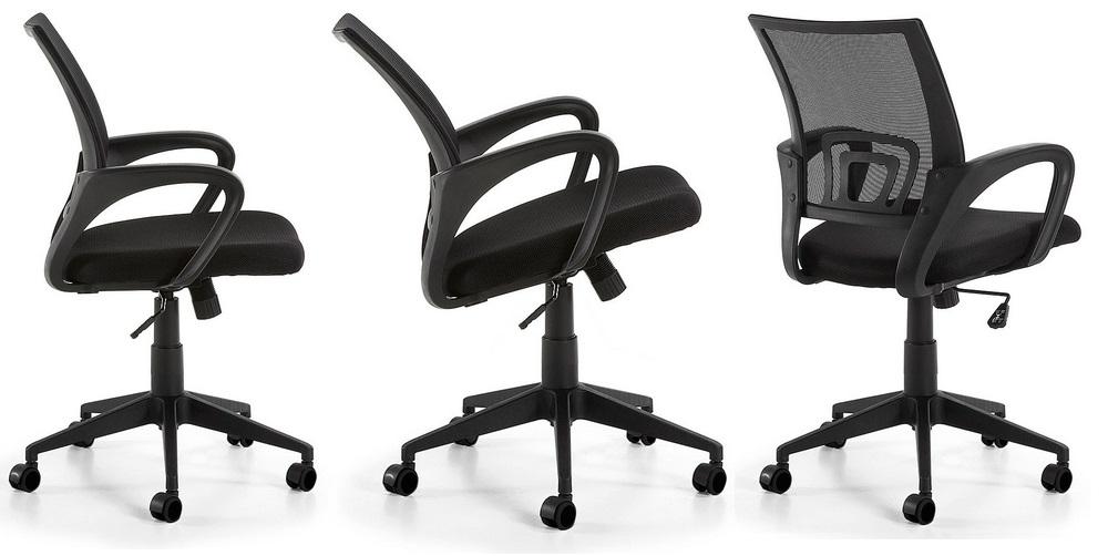 Silla operativa ergonomica easy negro - www.regaldekor.com