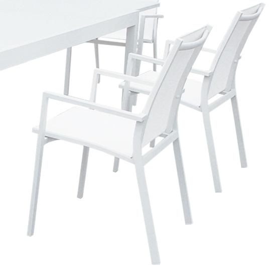 Silla terraza aluminio blanco samoa - Sillas de terraza de aluminio ...