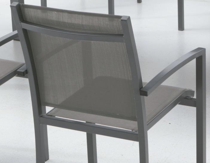 Silla terraza aluminio gris slat - Sillas aluminio terraza ...