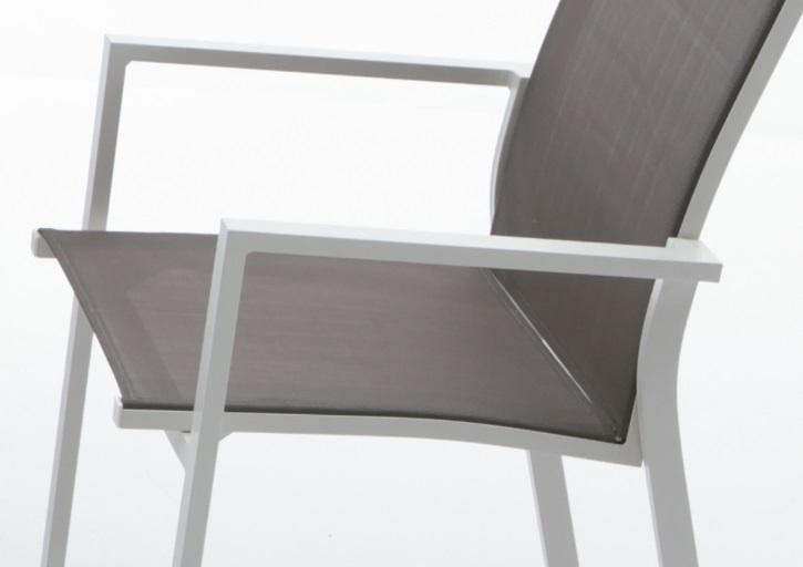 Silla terraza aluminio blanco cafe sky - Sillas de terraza de aluminio ...