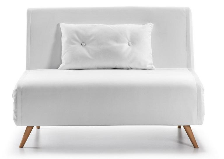 Sillon cama nordico blanco norway for Sillon cama blanco