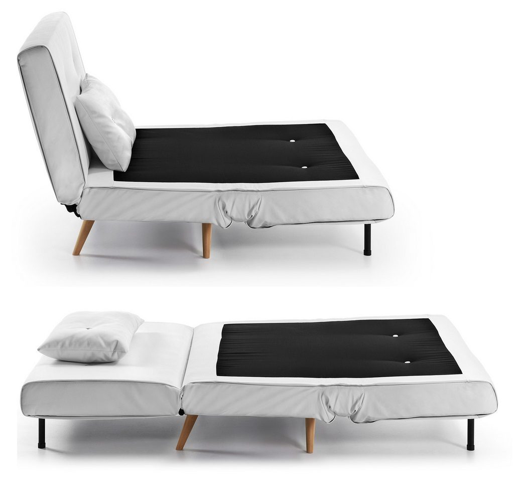 Sillon cama nordico blanco norway for Sillon cama 1 plaza mercadolibre