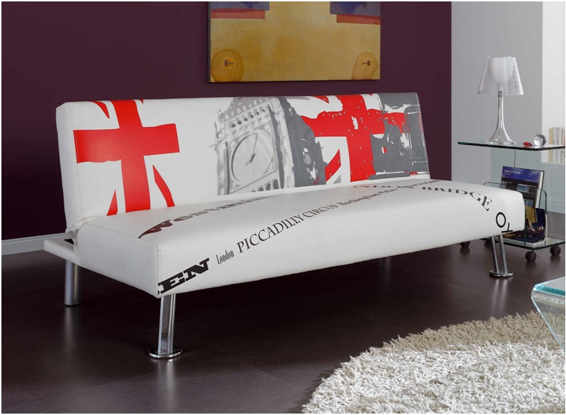 Sofa cama blanco london for Sofa cama de libro