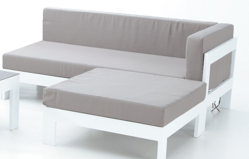 Sofa Derecho Dos Plazas Aluminio Blanco Laos Www