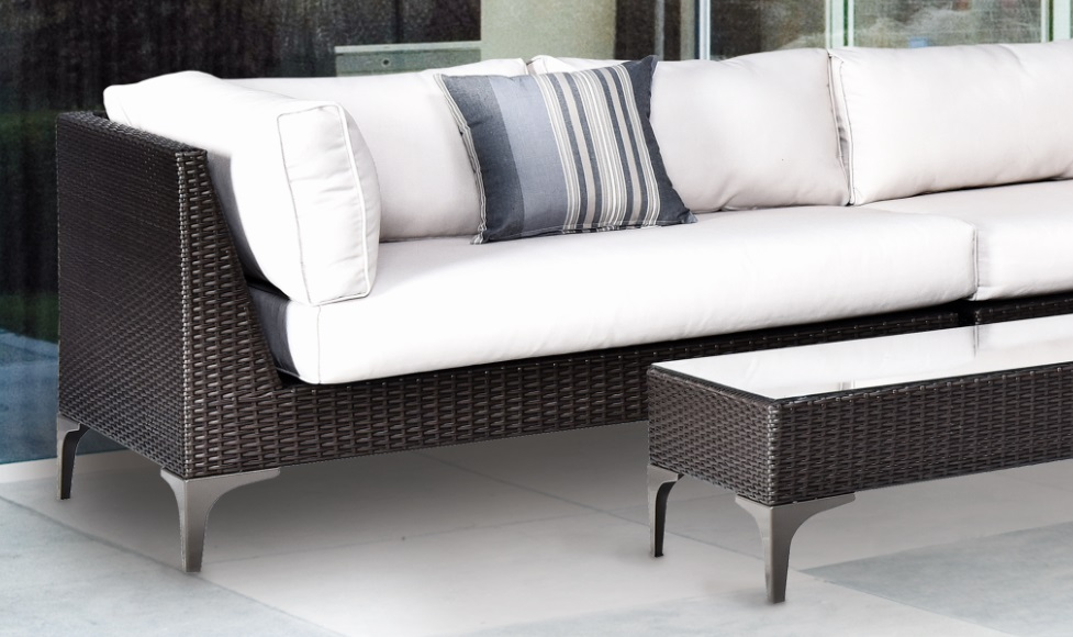 Sofa modular esquinero rattan chocolate land www for Sofa esquinero cocina