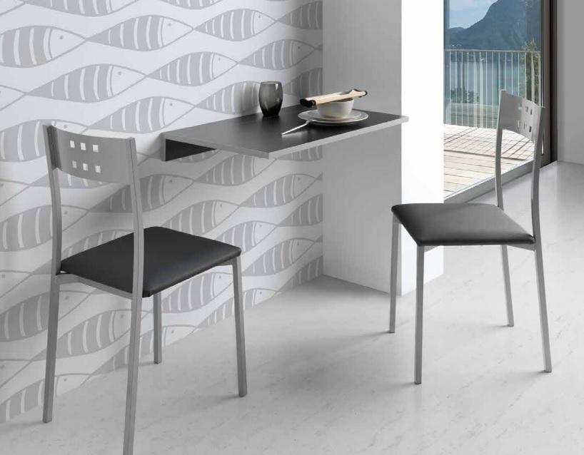 Mesa de cocina abatible de pared Prades MDF negra 10-50x80 cm PI-502 ...