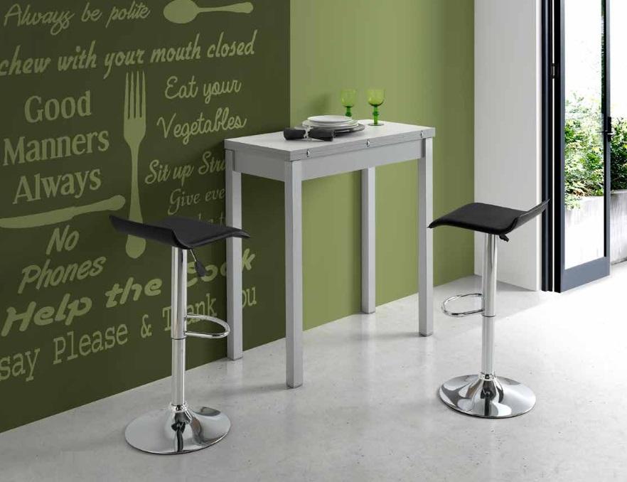 Mesa de cocina extensible tipo libro MDF blanco Dijon PI ...